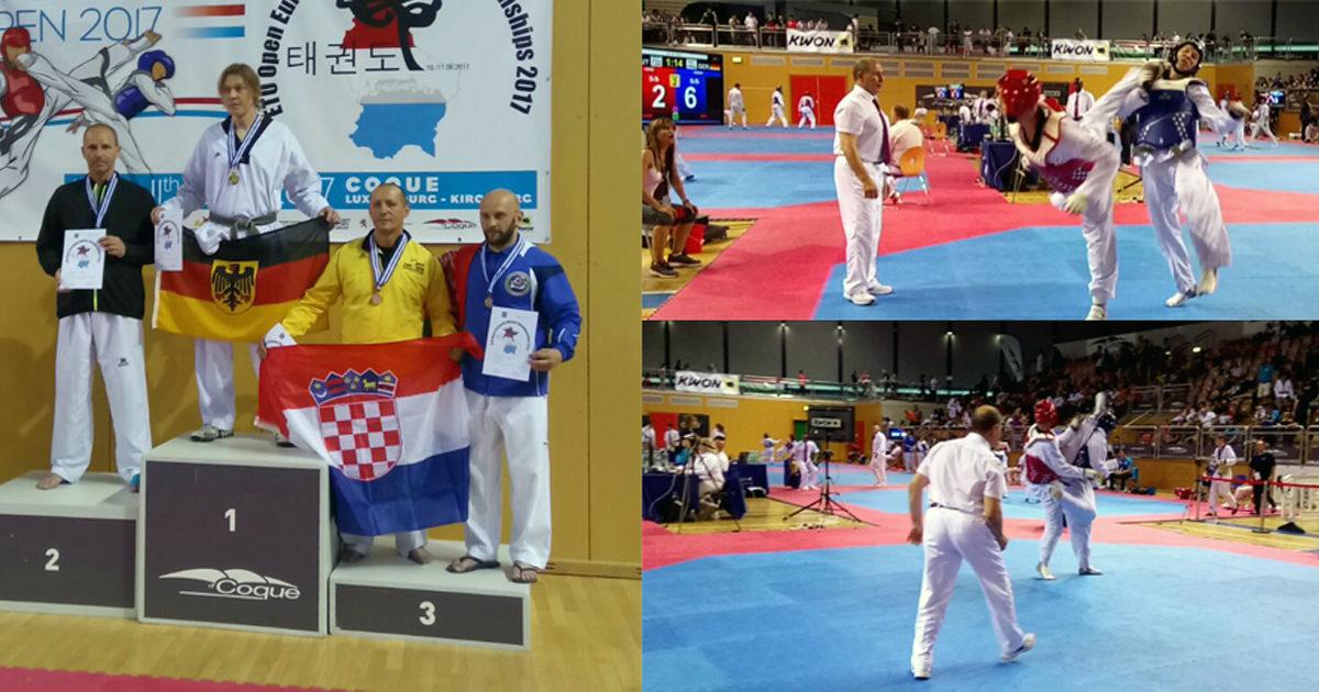 SILBER BEI DEN EUROPEAN MASTERS in Taekwondo für Österreich.